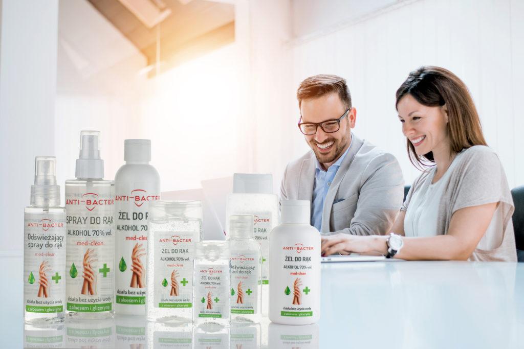 Linia kosmetyków i produktów biobójczych ANTI-BACTER